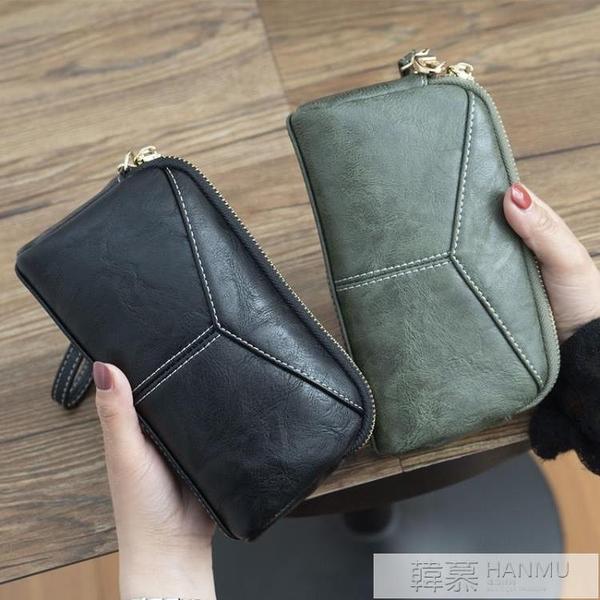 2020新款日韓長款女士女包簡約百搭手拿包簡約零錢手抓包手機包  夏季新品