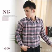 【大盤大】S51798 男NG 恕不退換法蘭絨襯衫長袖襯衫M 號格紋格子純棉工作服輕刷毛口袋