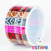 【奇奇文具】【ESTAPE】RHS4013 抽取式易撕貼 OPP 膠帶/創意膠帶/裝飾膠帶 (動物紋版組合)
