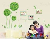 壁貼【橘果設計】綠色花球 DIY組合壁貼 牆貼 壁紙 壁貼 室內設計 裝潢 壁貼