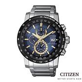 CITIZEN 星辰 AT8124-83M 電波錶 光動能 三眼計時 男錶/廣告款