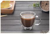 ☆Dolly生活館*╮手工高硼矽雙層隔熱帶把手玻璃Espresso濃縮咖啡杯/水杯/果汁杯/馬克杯 20614