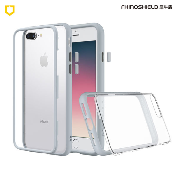【Rhino Shield 犀牛盾】iPhone 7/8 Plus Mod 邊框背蓋二用手機殼 狼灰