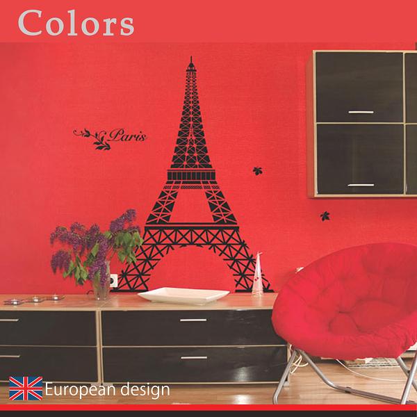 大型壁貼【WD-006 狂戀巴黎】 創意壁貼 無毒無痕 不傷牆面 創意壁貼 英國設計 窗貼
