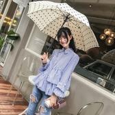 依米迦 秋裝新款韓版設計感個性時尚韓版小心機襯衫長袖襯衣