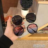 墨鏡女韓版個性圓臉顯瘦街拍太陽鏡夏季出游防紫外線遮花樣年華