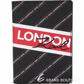 KARL LAGERFELD K/CITY 字母條紋塗層材質護照夾(黑色) 1920167-01