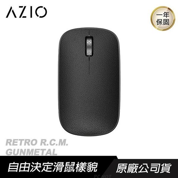 【南紡購物中心】AZIO RETRO R.C.M. GUNMETAL 無線藍牙 復古牛皮滑鼠/3805傳感器/四段DPI
