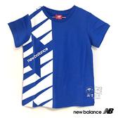 New Balance 童裝 2019新款 藍色 LOGO T恤 短T 童衣 NO.H2548