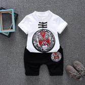 民族風兒童唐裝棉麻短袖漢服套裝     SQ8060『寶貝兒童裝』