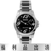 【台南 時代鐘錶 mono】原宿時尚 2015CE-396黑 甜蜜心意半陶瓷中性錶 台南經銷商