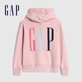 Gap女裝 Logo漸層風格連帽休閒上衣 624761-淡粉色
