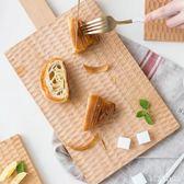龜甲紋面包板實木砧板家用披薩板烘焙點心托盤廚房切菜板 DR3726【KIKIKOKO】