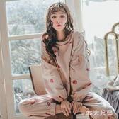 休閒孕婦月子服 新款純棉產婦產后哺乳期喂奶薄款孕婦睡衣家居服 QQ8302『MG大尺碼』