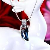 925純銀項鍊 水晶墜飾-華麗迷人生日情人節禮物女飾品2色73aj343【巴黎精品】
