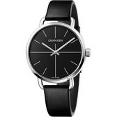 Calvin Klein CK Even 超然系列十字線手錶-黑/42mm K7B211CZ
