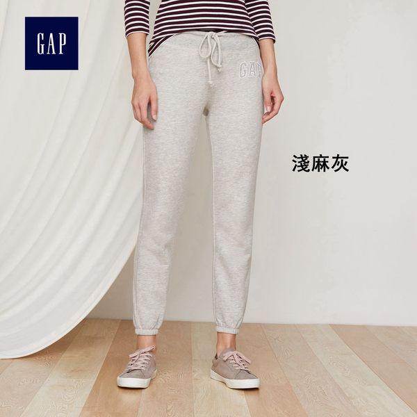 Gap女裝 logo細絨內裡女士束腳褲 自然腰鉛筆褲女 715905-淺麻灰