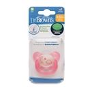 美國Dr Brown 布朗博士PreVent功能性夜光安撫奶嘴 粉2入6-12個月(附收納盒)