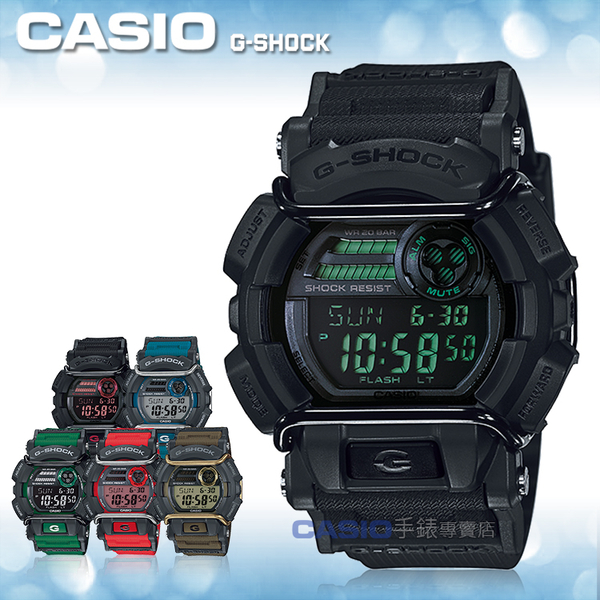 CASIO 卡西歐 手錶專賣店 G-SHOCK GD-400MB-1D R男錶 G-SHOCK 橡膠錶帶 世界時間 碼錶 閃動響報