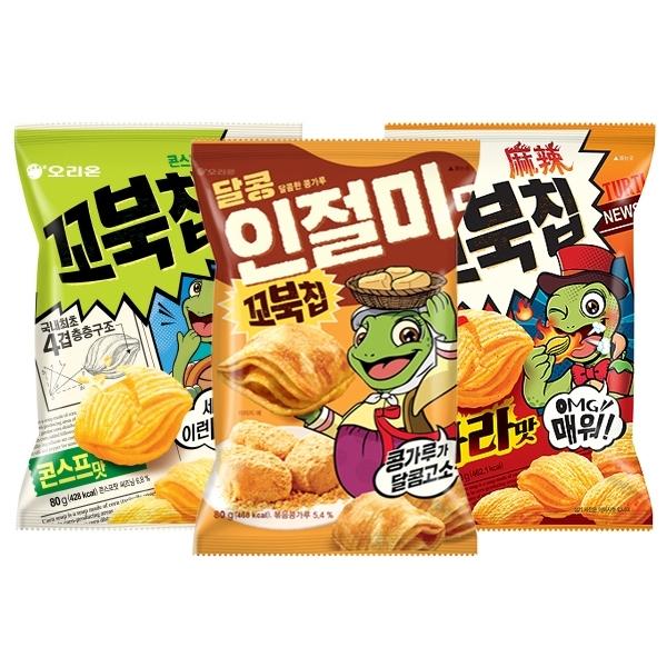 韓國 好麗友 烏龜玉米脆餅(80g) 款式可選【小三美日】 進口/零食/團購 $59