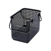 【日本Like it】北歐風可堆疊凹型收納洗衣籃(單入)-深灰色
