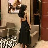 露背洋裝 漏背性感吊帶洋裝女夏裝2020歐美ins修身顯瘦氣質超仙雪紡a字裙 polygirl