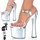 夜店恨天高防水臺女鞋 18cm/20公分超高高跟涼鞋 粗跟婚鞋演出鞋 晴光小語