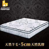 ASSARI-尊爵旗艦5cm乳膠強化側邊獨立筒床墊(雙大6尺)
