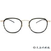 999.9 日本神級眼鏡 M43 (透綠-金)  鈦 圓框 近視眼鏡 久必大眼鏡