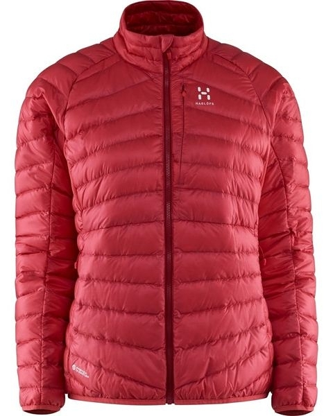 Haglofs ESSENS III DOWN JACKET WOMEN 女款800FP羽絨保暖外套 2VP 瑪瑙紅/熱情紅