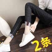 黑色牛仔褲女2021秋季新款高腰九分修身百搭彈力顯瘦緊身女士小腳
