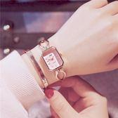 條手錶女方形款金屬大氣學生正韓簡約歐美時尚手式女款WY【七夕情人節】