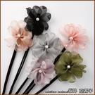『坂井.亞希子』珍珠花朵造型丸子頭盤髮造型編髮器