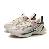 FILA 版型偏小 老爹鞋 米白 紅灰綠 麂皮 休閒鞋 女 (布魯克林) 4J528U940