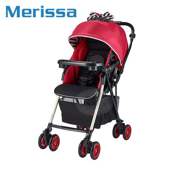 【愛吾兒】Merissa美瑞莎 UNO-4XW 全時四輪鎖放嬰兒手推車-條紋紅