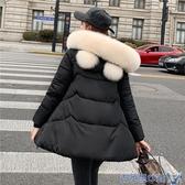 棉衣女中長款2020新款寬鬆A字外套加厚學生棉襖斗篷娃娃冬裝上衣 快速出貨
