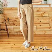【Tiara Tiara】百貨同步   雙釦摺口袋素面長褲(褐/卡其/黑)