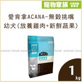 寵物家族-愛肯拿ACANA-無穀挑嘴幼犬(放養雞肉+新鮮蔬果)1kg