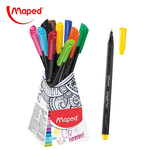 【法國 Maped】Graph'Peps 紓壓著色簽字筆組10色(749163) / 組