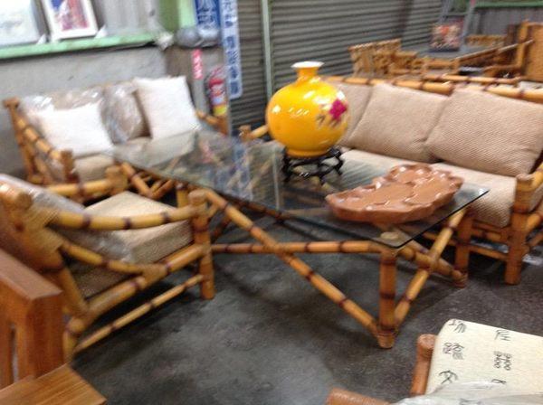 8號店鋪 仿古傢俱 全實木 仿竹全實木客廳椅組~下標前請先來電詢問有無現貨