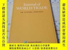 二手書博民逛書店《Journal罕見of WORLD TRADE》Volume