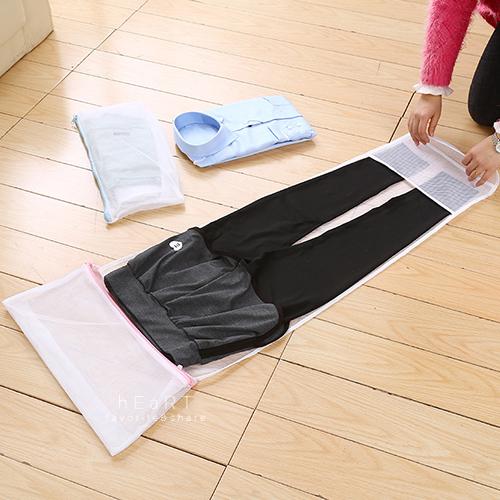摺疊式西裝褲收納洗衣袋 洗衣袋 洗褲袋 洗衣網袋