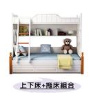 【千億家居】兒童高低床/上下床+拖床組合/子母床/兒童雙層床架/MG111-1