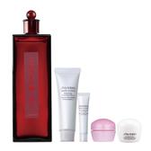 SHISEIDO 國際櫃 紅色夢露200 ml+美白皂30 ml+眼霜5 ml+夜霜10 ml+激能量水凝凍10 ml