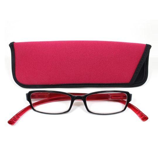 日本專利設計老花眼鏡 Neck Readers (亮麗紅色) 可濾藍光、抗紫外線【S Life 若返生活】