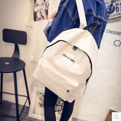 帆布雙肩歐洲站簡約大容量學院風男女情侶糖果色SMY1156【123休閒館】