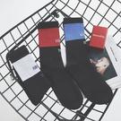 FINDSENSE 品牌  韓國 時尚 拼色潮 男女 情侶襪子 個性 字母條紋