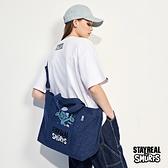 STAYREAL x 藍色小精靈 Hey!SMURFS丹寧側背包
