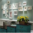 主圖款*實木照片牆歐式相框牆創意組合客廳掛牆【B款全白色框】