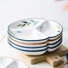 日式家用陶瓷分隔盤菜盤創意三格分餐盤一人食早餐盤碟子餐具套裝 8號店